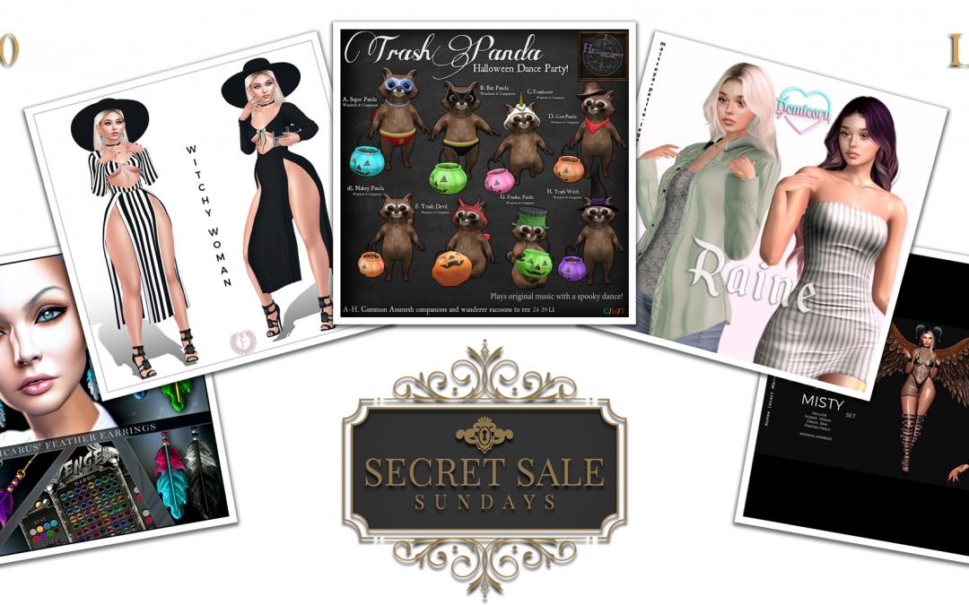 Secret Sale Sundays October 17th 2021