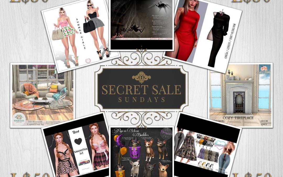 Secret Sale Sundays October 24t 2021